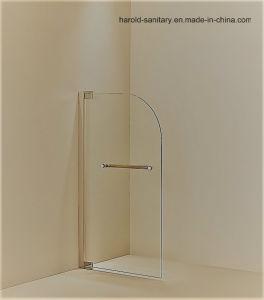 Hr-015 Round Corner Bathtub Glass Shower Screen Walk-in Shower Enclosure pictures & photos