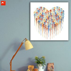 Modern Abstract Simple Heart Chrome Canvas Print pictures & photos