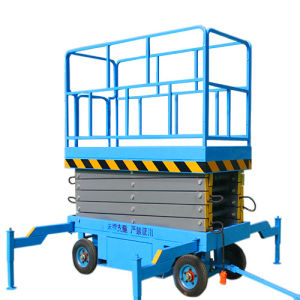 4m Portable Mobile Scissor Lift for Outdoor Maintenance pictures & photos
