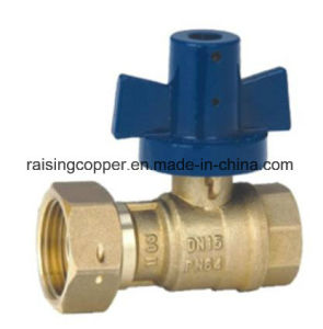 Brass Water Meter Ball Valve pictures & photos