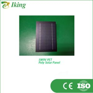 Factory Pet Laminated Solar Panel 5W 9V
