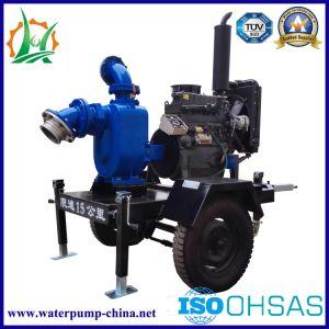 Opened Impeller Sewage Self-Priming Trailer Diesel Pump pictures & photos