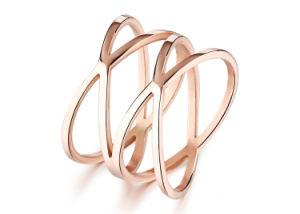 Titanium Steel Rose Gold Fashion Designer Woman Rings Stainless Steel Jewelry pictures & photos