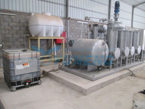 (Change Black to Yellow) Black Tire Pyrolysis Oil Recycling Machine pictures & photos