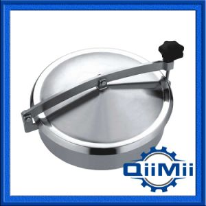 Sanitary Stainless Steel Non Pressure Manhole with Full View Glass Cover pictures & photos