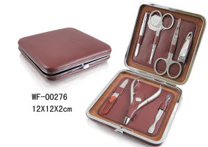 Beauty Products Show Box Nail Manicure Set with Metal Frame Case