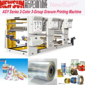 Asy Series 2-Color 3-Group Plastic Film Rotogravure Printing Presses pictures & photos