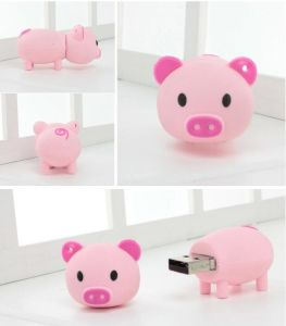Cute Cartoon Pink Pig USB Flash Pen Drive Memory Stick pictures & photos