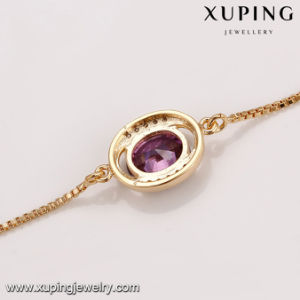 74723 Fashion Jewelry 18k Gold CZ Bracelet in Brass pictures & photos