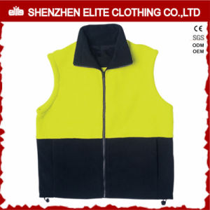Reflective Safety Yellow Navy Blue Polar Fleece Work Vest pictures & photos