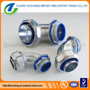 Galvanized Steel Elbow Liquid Tight Connector pictures & photos