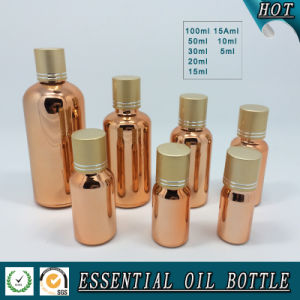 Screw Cap Gold Glass Essential Oil Bottle pictures & photos