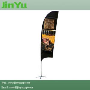 3.7m Height Aluminum Fiberglass Feather Beach Flag Banner pictures & photos