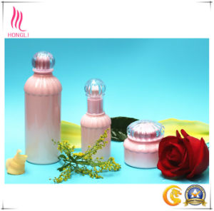 Pink Glass Container with Beautiful Oblique Shoulder pictures & photos