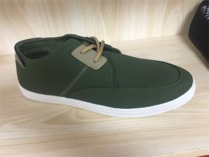 Canvas Shoes Flat Rubber Sole Casual pictures & photos