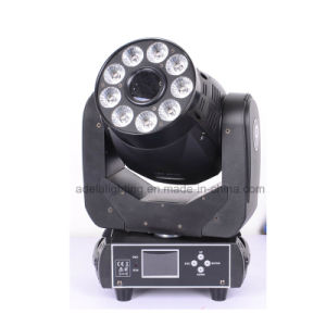 75W Spot 9X12W 6in1 Wash LED Moving Head Light pictures & photos