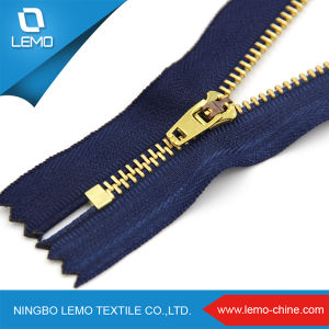 Gloden-Brass Jean Metal Zipper pictures & photos