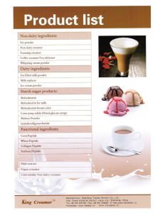 Non Dairy Creamer for Beverages Assortment pictures & photos