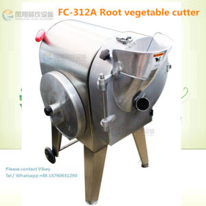 Kitchenware Use Vegetable Fruit Wavy Cube Slice Shred Cutting Machine (FC-312A) pictures & photos