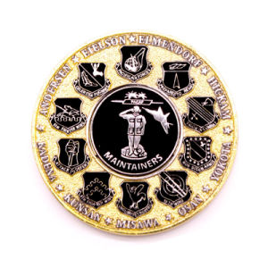 High Quality Customized Police Gold Souvenir Coin pictures & photos