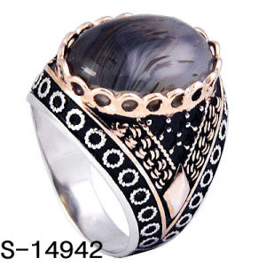 Factory Hot Selling 925 Silver Ring New Models Men Rings with Big Stone. pictures & photos