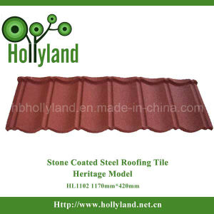 Stone Coated Steel Metal Roofing Sheet Roof Tile (Classical Type) pictures & photos