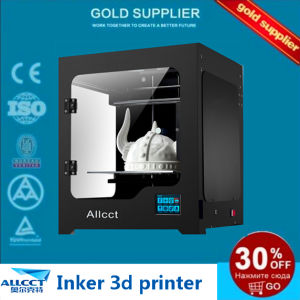 Inker200d Double Nozzles 0.1mm Precision Printing Fdm 3D Printer Machine pictures & photos