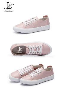 Two Color PU Plain Casual Shoes (CAS-028)