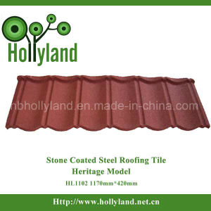 Fire Resistant Stone Coated Steel Roofing Bond Tile (Classical Type) pictures & photos