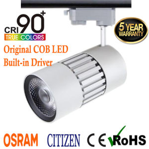 2017 Global Adaptor 30W Cizizen COB LED Tracklight with CRI 95ra pictures & photos