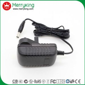 Merryking Brand Wall-Mount 12V 1A Adaptor UK Plug AC/DC Power Adapter pictures & photos