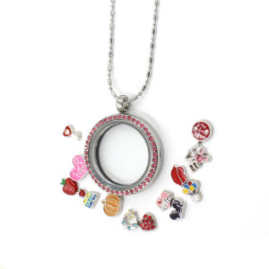 30mm Zinc Alloy Smooth Round Memory Glass Clear Locket