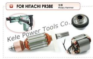 Power Tool Parts (Armature, Stator, Gear Sets for Power Tools Hitachi PR38E) pictures & photos