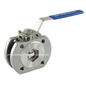 Two Piece Flange Ball Valve DIN Pn 40, Pn 16 pictures & photos