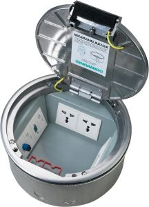 Sinoamigo Access Floor Power Outlet Round Floor Box pictures & photos
