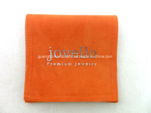 Customized Orange Flap Printing Jewelry Velvet Pouch pictures & photos