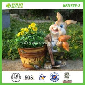 Star Garden Planter Adorable Bunny Flower Pot (NF11240-2)