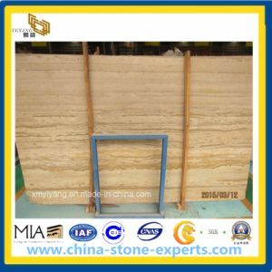 Wooden Yellow Marble/ Yellow Grainy Marble Slab pictures & photos