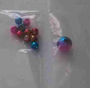 Iridescence Tungsten Slotted Beads with Hole pictures & photos