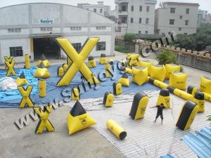 Inflatable Paintball Bunkers, Inflatable Paintball Field, Inflatable Paintball Maker, Paintball Arena, Inflatable Sports Game