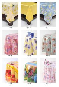 """Non-Woven Back PVC Table Cloth 0.07mm*54""""*40m/Roll pictures & photos"""