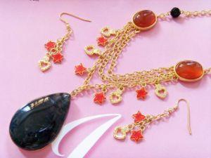 Semi-Precious Stone Jewelry Set (SS4048)