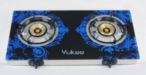 2 Burners Tempered Glass Gas Stove (YD-2GT09)