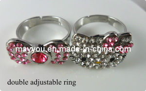 Fashion Hello Kitty Jewelry -Hello Kitty Double Finger Ring pictures & photos