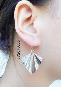 Fashion Jewelry Alloy Stud Fan Style Earring Cuff (SFE0405A1)