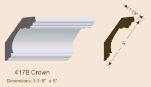 Primed MDF Crown Mouldings Cornices pictures & photos