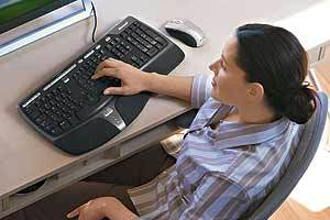 Ergonomic Keyboard, Total Comfort-Ergonomic Design Encourages Natural Wrist and Arm Alignment pictures & photos