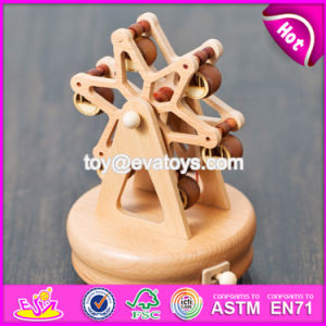 Handmade Funny Waterwheel Shape Kids Wooden Small Music Box W07b038 pictures & photos