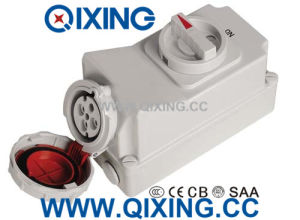 32A 4p Electric Interlocked Receptacle Switch pictures & photos