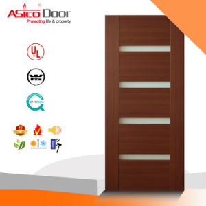 Solid Wood Entrance Interior Exterior Door for Classical pictures & photos